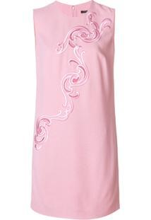 Versace Vestido Com Bordado Barroco - Pink & Purple
