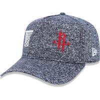 f9c158584 Boné New Era 3930 Houston Rockets Aba Curva Mescla Negro