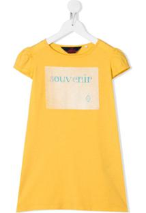 The Animals Observatory Vestido Reto Com Estampa Gráfica - Amarelo