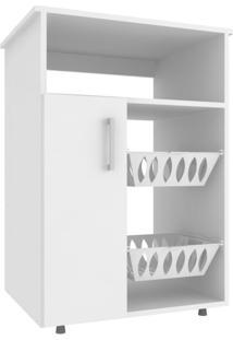 Balcão De Cozinha Com Fruteira Utility 1 Pt Branco