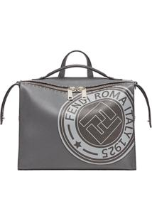 Fendi Bolsa 'Lui' Com Logo Estampado - Cinza