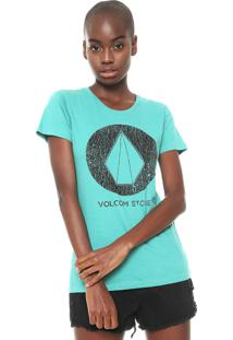Camiseta Volcom True Life Today Verde