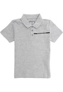 Camisa Calvin Klein Kids Infantil Logo Cinza