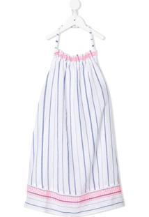Sunuva Vestido Frente Única Listrado - Branco