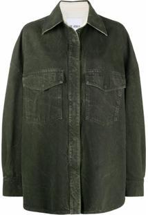 The Attico Jaqueta Jeans Oversized - Verde