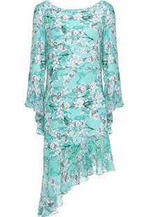 Vestido Crepe Floral Geraldine