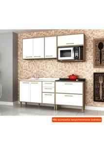Cozinha Compacta Vitória 6 Pt 5 Gv Branca E Avelã