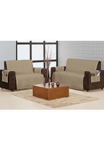 Protetor Sofa Home 3 E 2 Lugares Bege Enxovais Aquarela