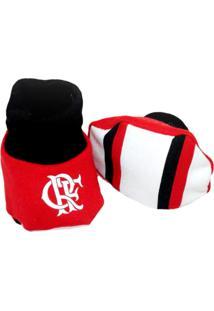 Pantufa Reve D'Or Sport Flamengo Vermelha E Preta