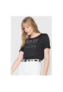 Camiseta Colcci Wonderful Preta