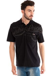 34744d2955 Camisa Konciny Polo Manga Curta Preto