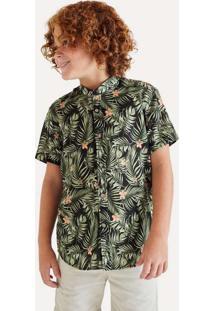 Camisa Mini Sm Fullprint Emmy Reserva Mini Preto