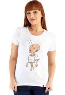 Baby Look Ouroboros Faca No Olho Feminino - Feminino