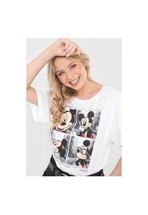 Camiseta Cativa Disney Mickey Wanderlust Branca