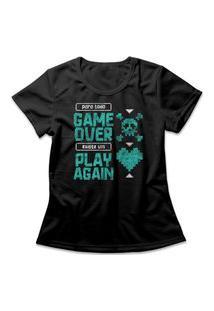 Camiseta Feminina Play Again Preto