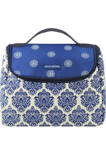 Bolsa Térmica Abstrata- Azul & Branca- 23X18X16Cm