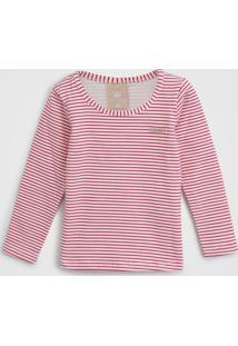 Blusa Colorittá Infantil Xadrez Rosa - Tricae