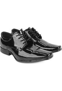 Sapato Social Walkabout Verniz Masculino - Masculino-Preto