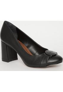 Sapato Com Tira- Preto- Salto: 7,5Cmmorena Rosa