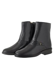 Bota Pessoni Boots & Shoes Social Cano Alto Em Couro Preto