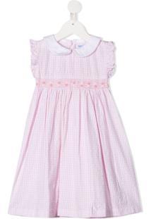 Siola Vestido Com Estampa Xadrez - Rosa