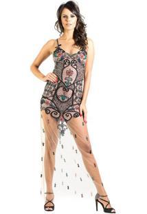 Vestido Longo Pedraria Fabiana Milazzo 38