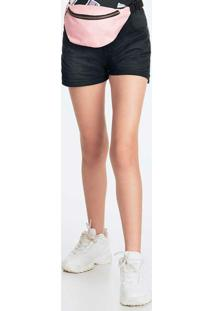 Shorts Infantil Menina Preto