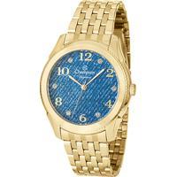ef679374196 Relógio Champion Analógico Cn26984 - Feminino-Dourado