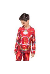 Pijama Manga Longa - Super Herói De Aço Veggi