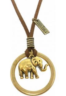 Colar Tuliska Elephant Ouro Velho - Ouro Velho - Dafiti