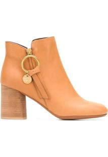 ad9f7587d See By Chloé Ankle Boot 'Louise' De Couro - Marrom