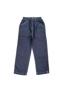 Calça Jeans Menino Com Elástico Escura