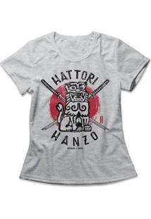 Camiseta Hattori Hanzo Studio Geek Feminina - Feminino-Mescla