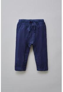 Calça Bebê Bb Plano Basico Reserva Mini Masculino - Masculino-Marinho