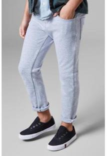 Calça Mini 5 Pockets Moletom Reserva Mini Masculina - Masculino-Cinza