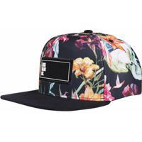 Boné Aba Reta Snapback Hoshwear Floral Caveiras - Unissex 3dbb8ce4aaf