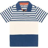 66bdb4b47e Camisa Polo Infantil Trick Masculina - Masculino-Azul