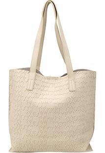 4e4d88ea2 Bolsa Colcci Shopper Croco Tachas Feminina - Feminino-Off White