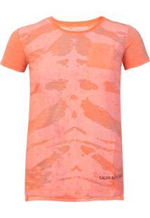 Camiseta Calvin Klein Kids Laranja