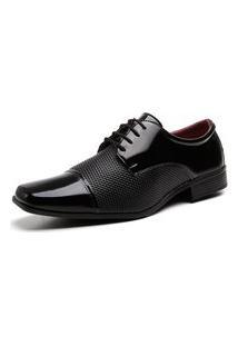 Sapato Social Cadarço Textura Masculino Conforto Dia A Dia