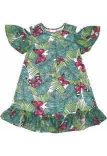 Vestido Nini & Bambini Infantil Borboletas
