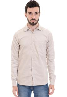 Camisa Konciny Veludo Cotelê 2991 Bege