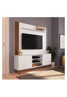 Estante Home Para Tv 50 Pol Estilare Disco 2 Portas Branco