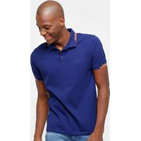 0bcfc8226 Camisa Polo Calvin Klein Friso Duplo Logo Relevo Masculina - Masculino