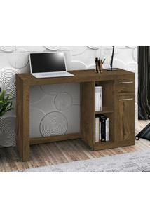 Mesa Para Computador Office Doris - Edn Móveis - Nogal Rústico