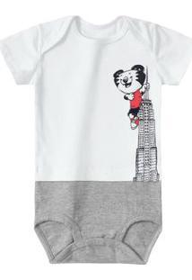 Body Tigor T. Tigre Branco Bebê Menino