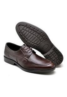 Sapato Oxford Masculino Couro Elegante Conforto Prático Café 37 Café