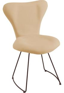 Cadeira Jacobsen Meia Lua T1073-Daf Mobiliário - Bege