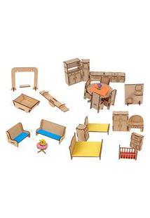 Conjunto Mobiliario Com 25 Peças Mdf - Carlu