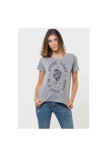Camiseta Jay Jay Básica Today The Day Cinza Mescla